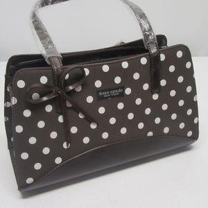 BNWT! Kate Spade Brown & White Polka Dot Handbag